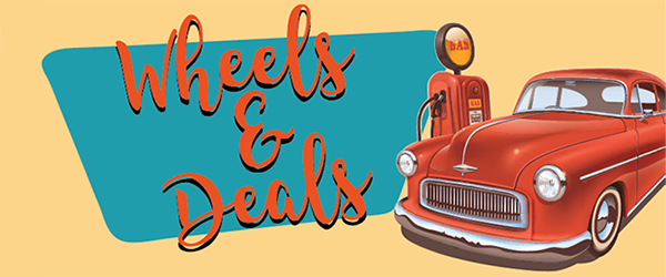 Come check out some wheels and deals on April 13 from 8am-2pm!